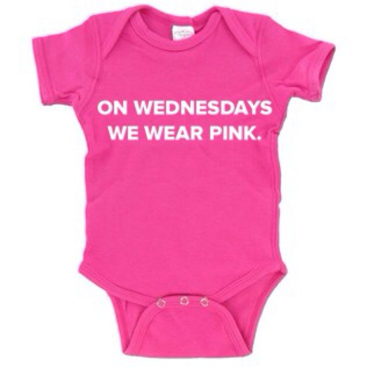 On Wednesdays We Wear Pink onesie Mean Girls by glamtastic on Etsy