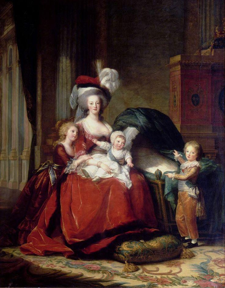 « Marie-Antoinette de Lorraine Habsbourg, reine de France et ses enfants ». Par Élisabeth Louise Vigée-Le Brun, 1789