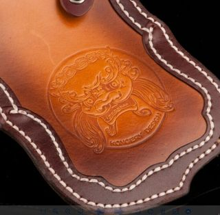 Genuine Cowskin Leather Handmade carving Wallet for men and women Manual famous Top luxury designer brand Punk