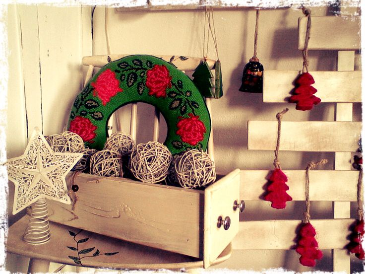 Christmas decorations at Polina's Studio