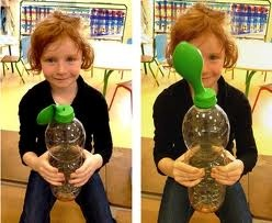 Gonfler un ballon avec une bouteille expériences air maternelle - Recherche Google
