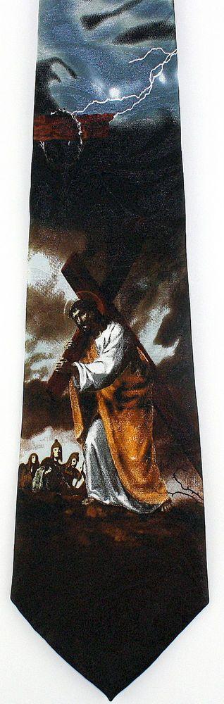 42 best christian religious easter images on pinterest easter carrying the cross mens necktie jesus christian religious easter gift tie new stevenharris necktie negle Gallery