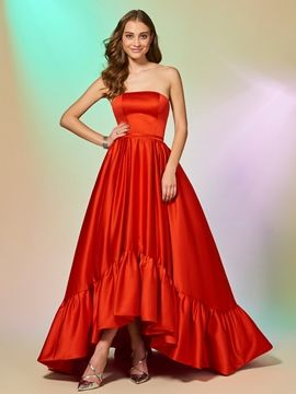 0931c2d0bd8 Cute A Line Strapless High Low Asymmetry Evening Dress I love this dress.  And You