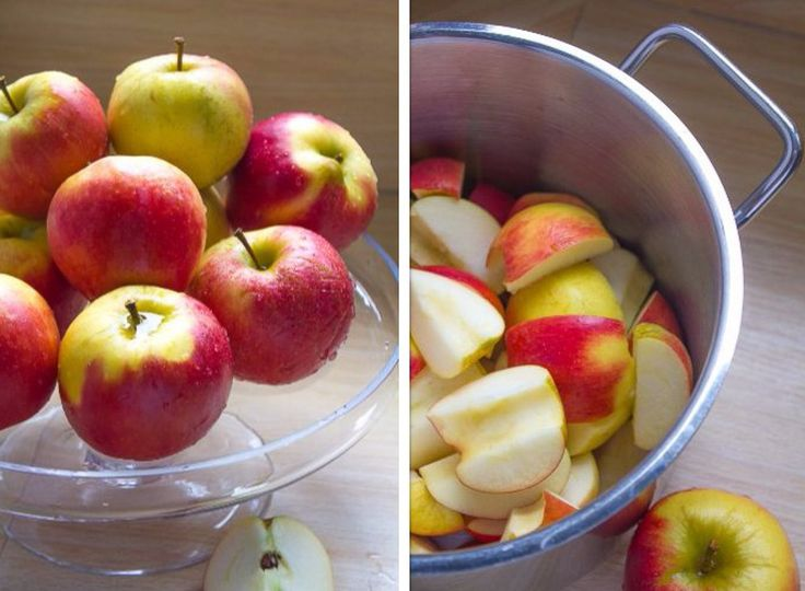 Met slechts water en appels als ingrediënten maak je zowel appelsap als appelmoes. Dus zonder extra toegevoegde suikers. Heel eenvoudig en superlekker!