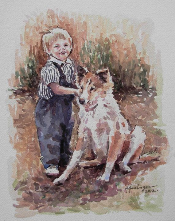Custom Watercolor Painting from your photo 2 by BloominMorning
