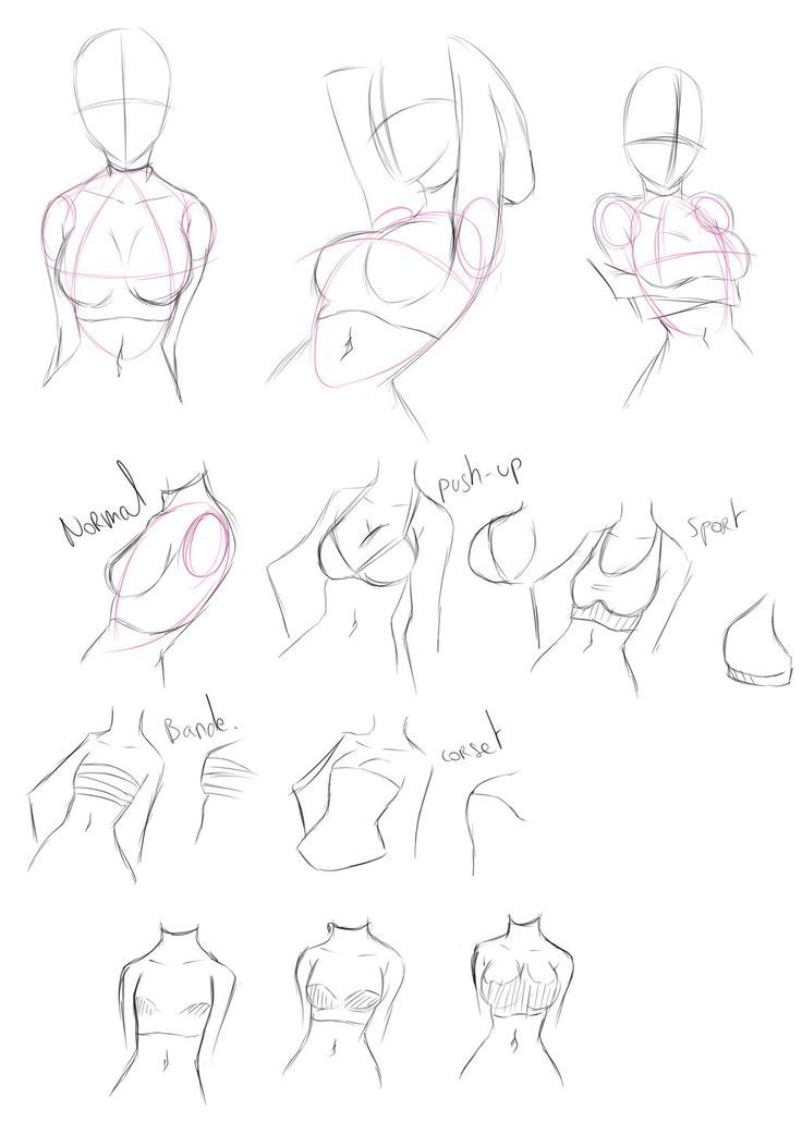 Different bra effects- drawing