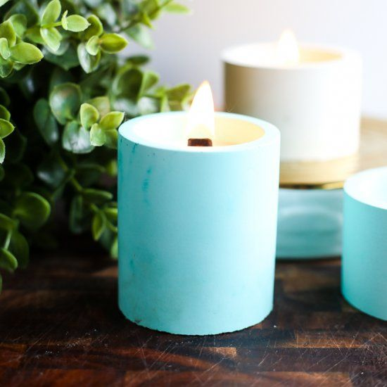 how to make a candle wick stand up