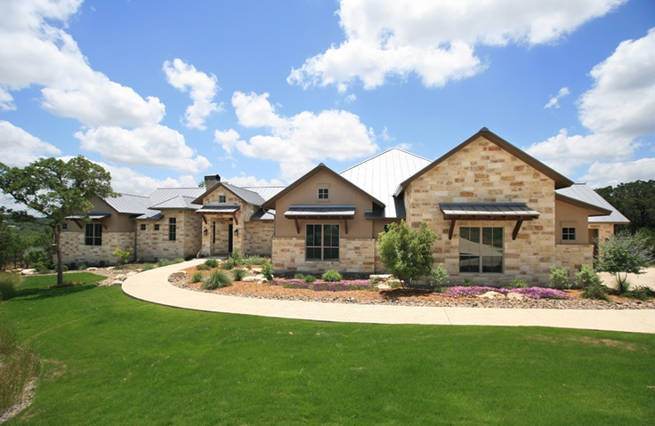 1000 images about elevations on pinterest ranch for Hill country style home plans