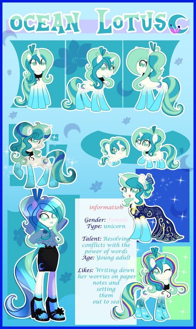 This is so cute! I love how it shows Ocean Lotus as a Filly, Crystal Pony and Equestria Girl!