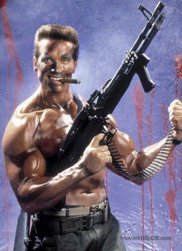 Commando - Promo shot of Arnold Schwarzenegger