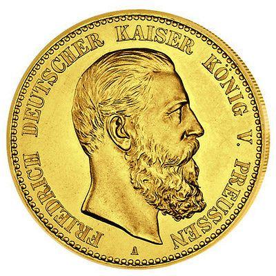 Goldmünze 10 Mark Preussen Friedrich III J247 GOLD