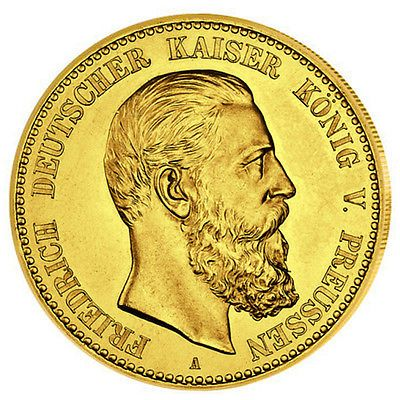 Goldmünze 10 Mark Preussen Friedrich III J247 GOLD