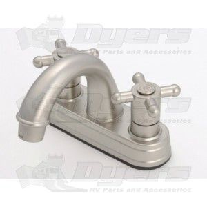 Empire Brass Company Brushed Nickle Cross Handle Arc Spout Lavatory Faucet