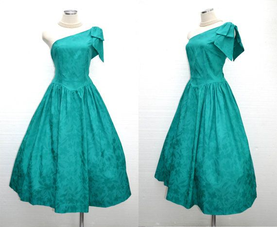 vintage 50s teal party dress / one by BreesVintageRevivals on Etsy, $92.00