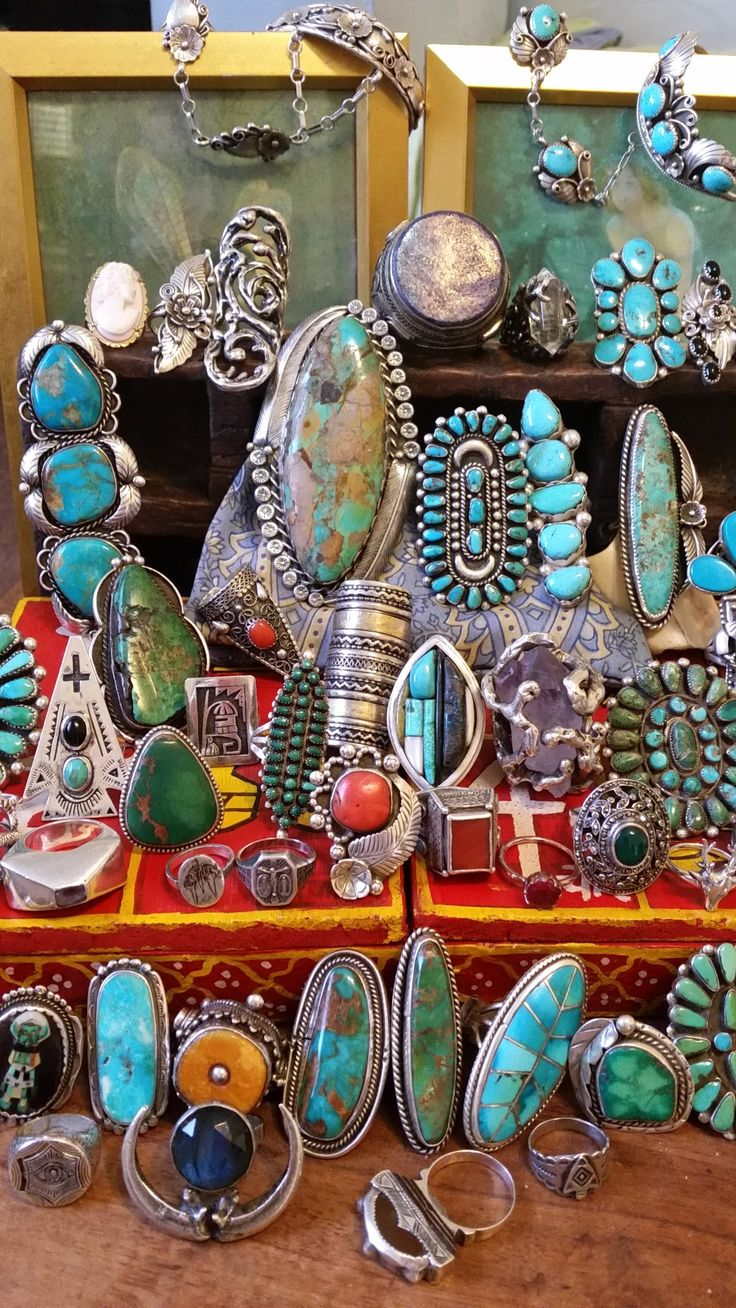 Turquoise extravaganza.