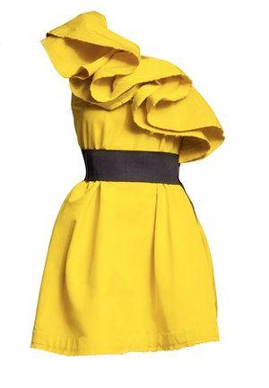 H m lanvin yellow dress banana