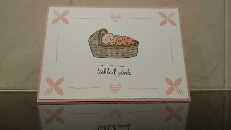 Stampin' Up's gorgeous Bundled Baby, with Best Day Ever stamps for the border.