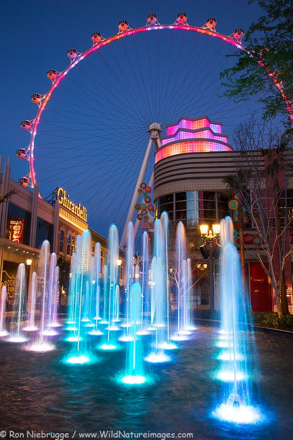 The High Roller in Las Vegas.  At 550 feet high, is the largest observation wheel in the world. | Ron Niebrugge