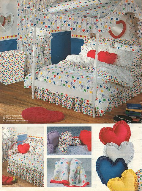 little girls dream room in the 80's...I had this bedspread!!!