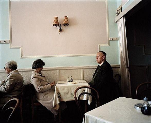 Martin Parr, A Couple in a Café, New Brighton, England, 1985