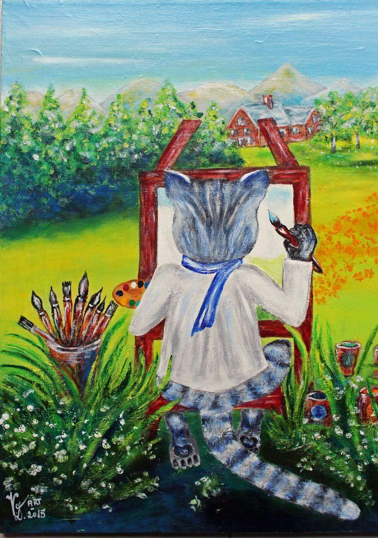 Der Künstler, Acryl, eigene Malerei