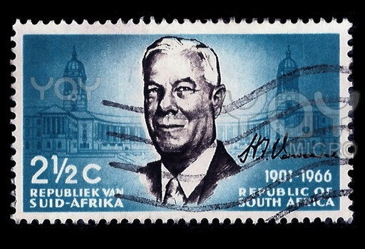 This Royalty Free 'South Africa Postage Stamp Verwoerd 1901-1966' image for commercial use was taken by professional photographer CD123 .