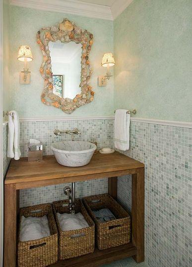 Phoebe Howard beach house bathroomBathroom Design, Mirrors, Powder Room, Beach House, Half Bath, Bathroom Vanities, Bathroom Ideas, Hands Towels, Cottages Bathroom