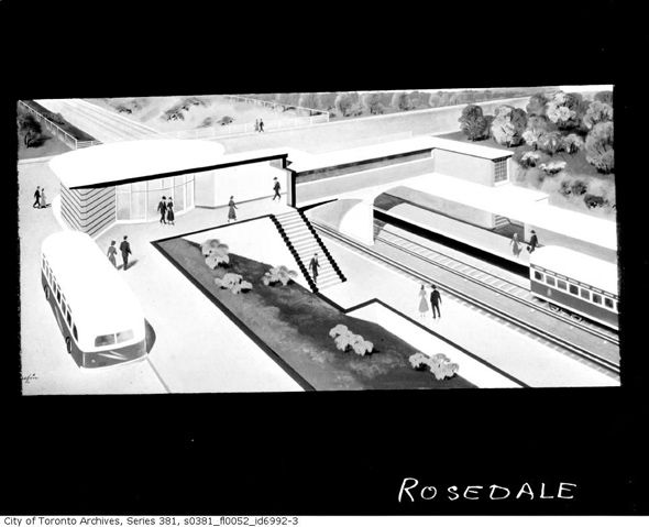 Original renderings of TTC subway stations