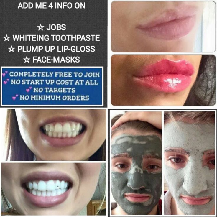 Whitening toothpaste, mud mask and plumping lip gloss