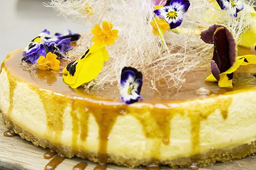 Amazing spring cheesecake ready to be devoured.