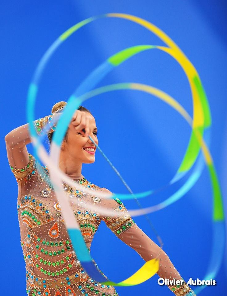 Natalia Gaudio (Brasil) got 16.216 points for ribbon at Qualifications, Olympic Games 2016