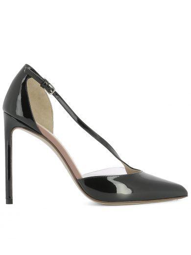 FRANCESCO RUSSO Black Leather Pump. #francescorusso #shoes #black-leather-pump