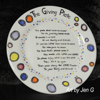Hand painted ceramic plate.