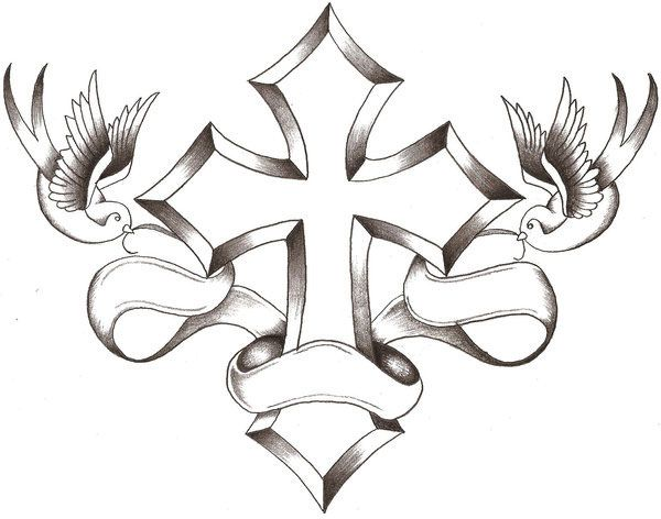 Sharp Cross Tattoo Design: Pin On Tattoo