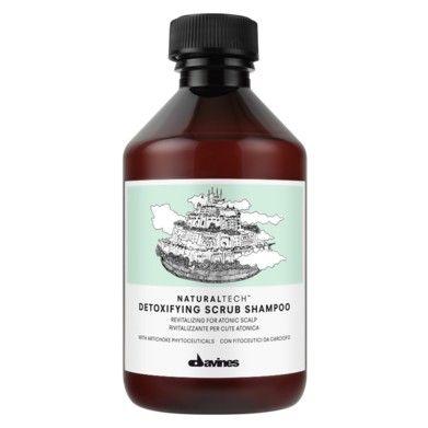 Davines Natural Tech Detoxifying Scrub Shampoo Ref.71168 - Atonische Hoofdhuid 250ml  Een exfoliërende en revitaliserende shampoo voor de atonische hoofdhuid. Met artisjok. Gebruik: Maak de hoofdhuid en het haar goed nat. Verdeel de shampoo en masseer voorzichtig op de hoofdhuid. Uitspoelen.  EUR 17.85  Meer informatie