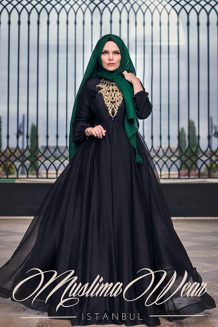 Muslima Wear Black French Chiffon Dress