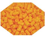 A bulk box of Orange Candy Coated Marshmallows.