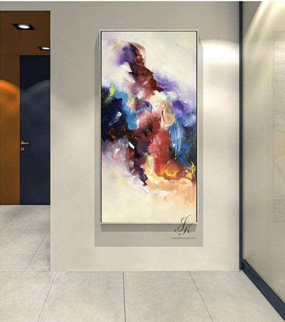 Large Abstract Oil Painting Gold Painting Large Wall Decor Walldecorbedroomcolour Fish Decor Wall Art Wall Decor Cute Wall Decor