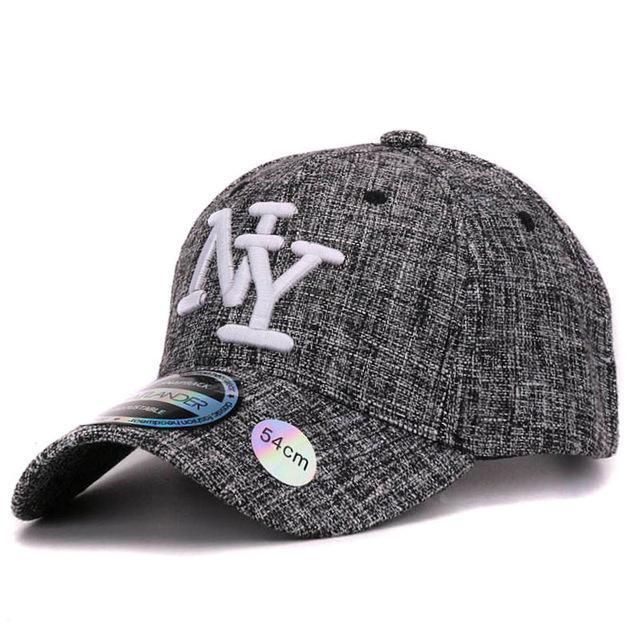 179873f94a7 Kids Gray NY Letter Baseball Cap in 2018