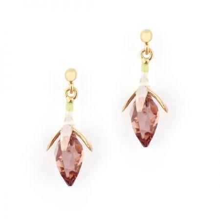 Fuchsia Crystal Earring