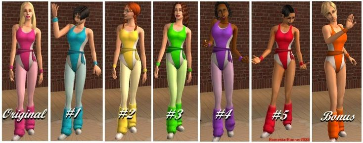Mod The Sims - Free Time Ladies' Spandex/Leg-Warmer Recolours (Now with BONUS!)