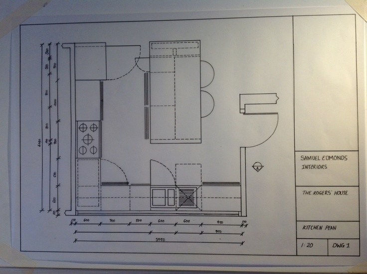 Kitchen Plan Scale Drawing 1 20 Scale Drawings