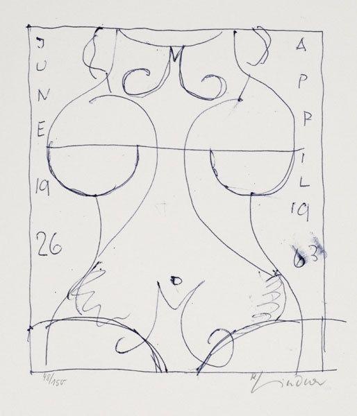 RICHARD LINDNER - Marilyn was here 17  (1970) Original Lithografie - Frau Bild