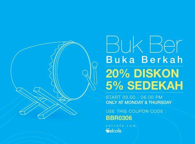 """Buk Ber """"Buka Berkah Belanja sambil Sedekah"""" Only at www.celcofe.com"""