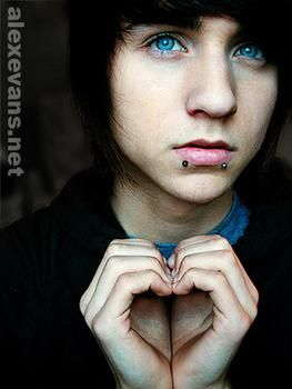cute emo scene boys - Google Search. Them blue eyes had me like *swoon. Faint*