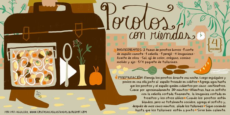 Cositas Ricas Ilustradas por Pati Aguilera: Porotos con Riendas