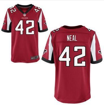 Jerseys NFL Sale - Atlanta Falcons #42 Keanu Neal Nike Red Elite 2016 Draft Pick ...