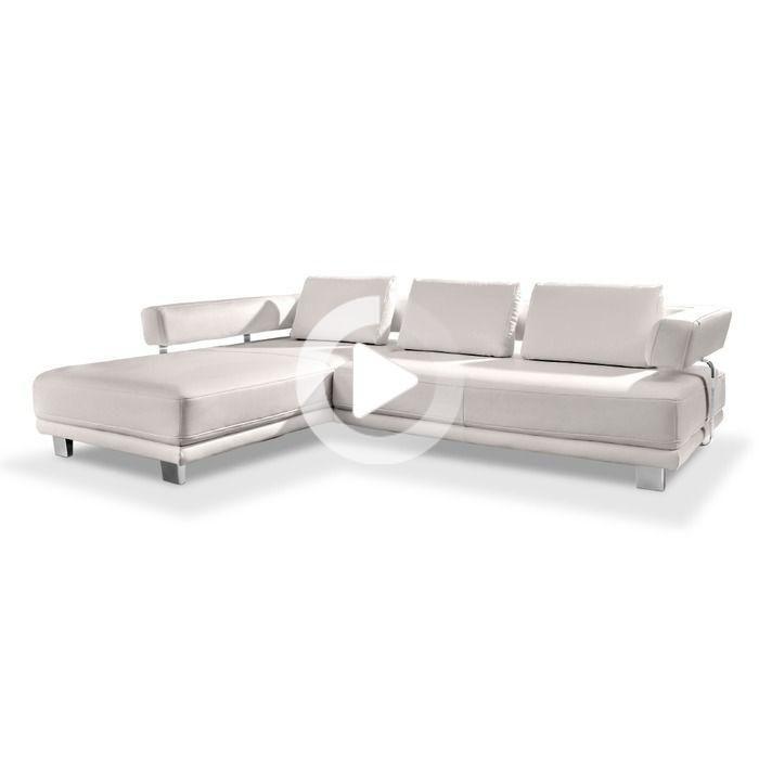 Hukla Ecksofa Hp1812 Weiss Leder In 2020 Ecksofa Sofa Design