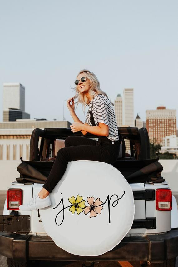 Floral Jeep Tire Cover White Tire Cover With Flowers Jeep Tire