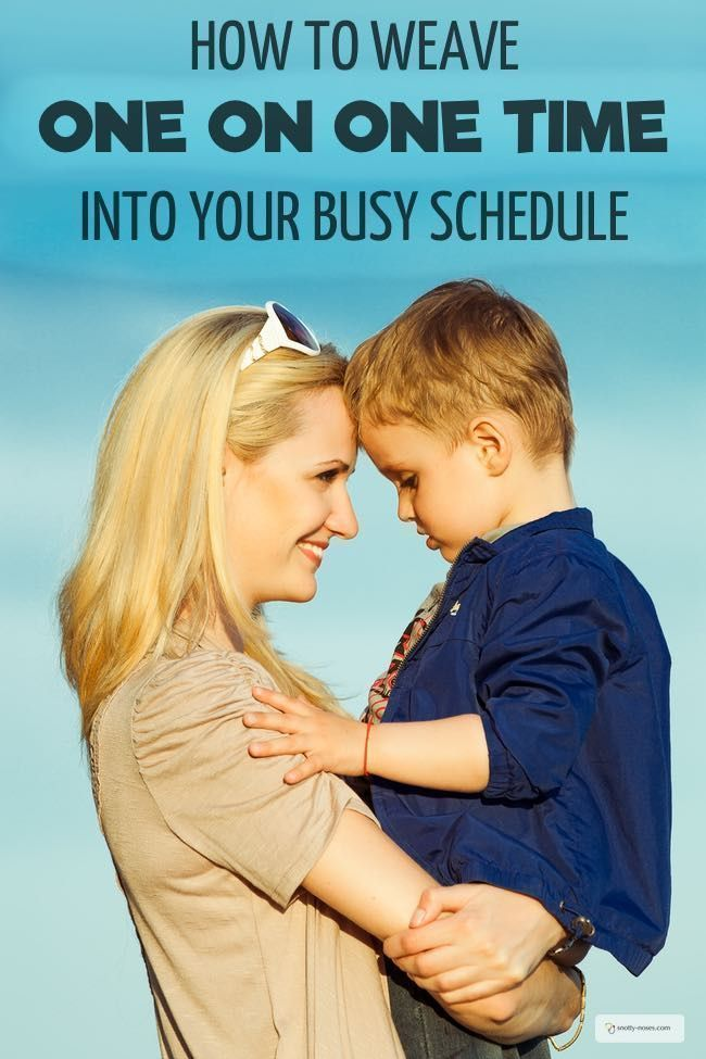 How to Weave One on One Time into Your Busy Schedule. Life can be so busy that we don't have time to connect with our kids. One on one time is a great way to enjoy your kids and help them feel valued. Here's how you can weave one on one time into your bus